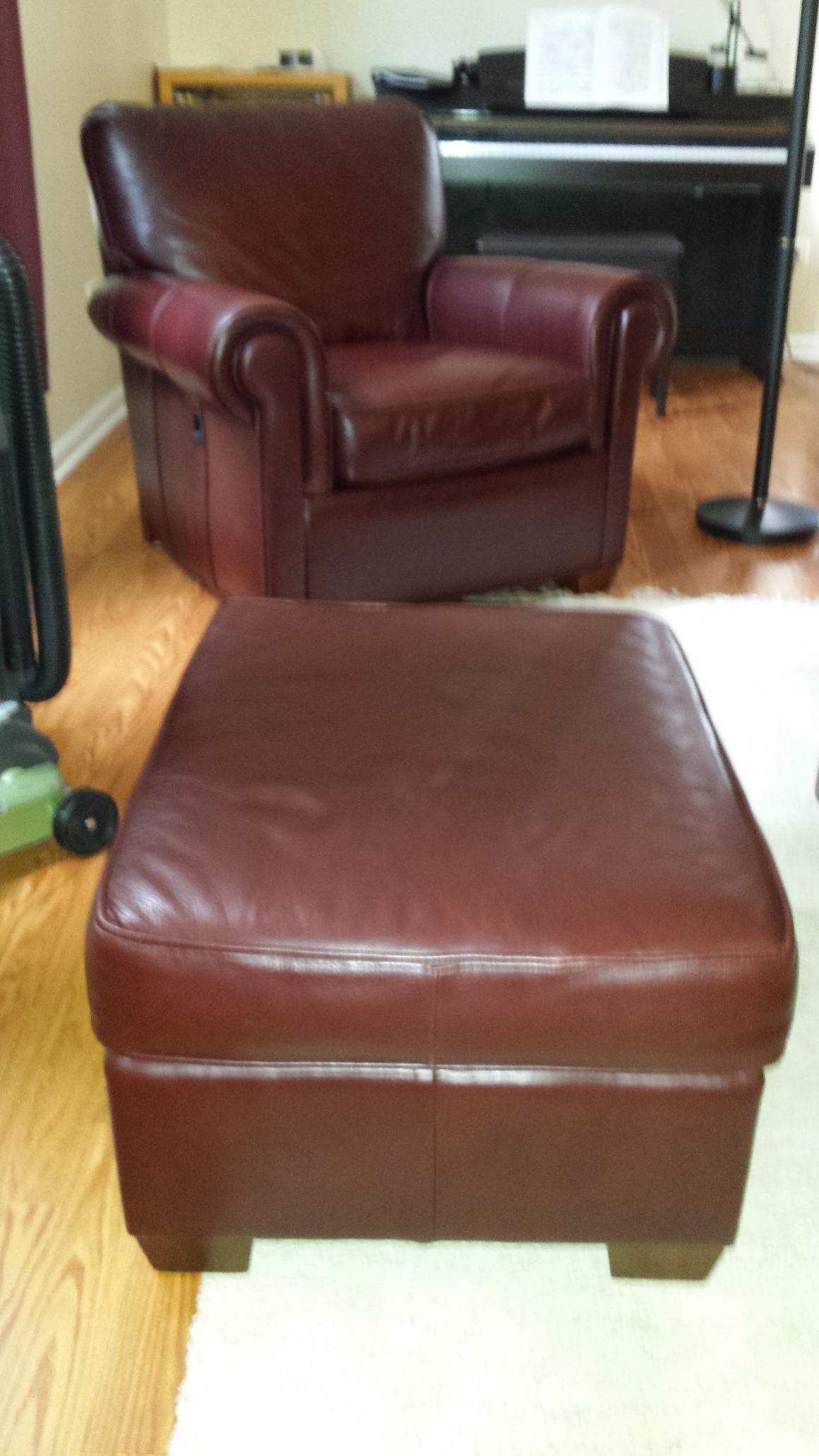 Leathercraft chair ottoman set on craigslist